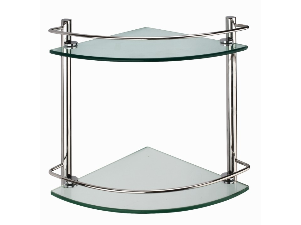 Cascade Dbl Corner Glass Shelf