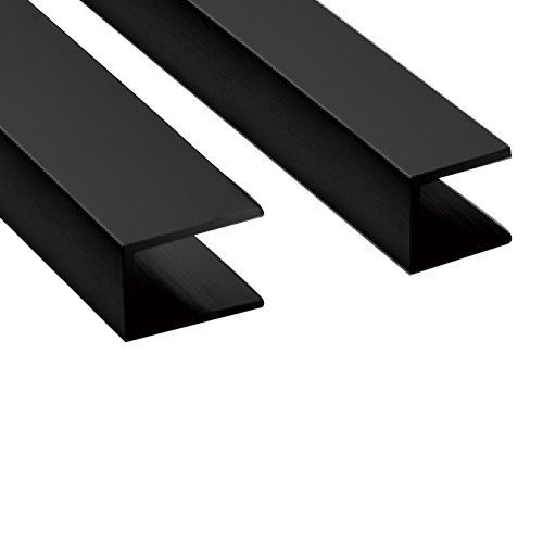 Wall Channel 2000x20mm BLK