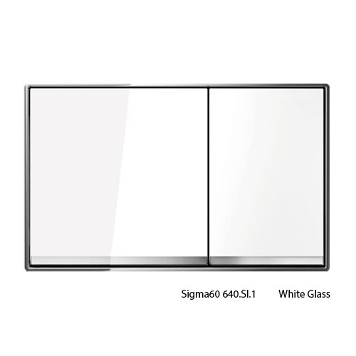 Sigma60 White Glass Buttons