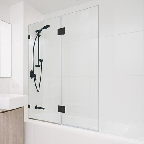 Rio Fix&Fold BathScreen SQ BLK