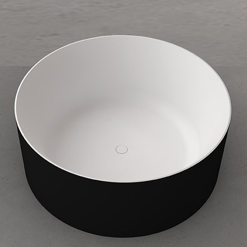 Drum Freestanding Bath Black From First Choice Warehouse