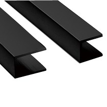 Wall Channel 2100x20mm BLK