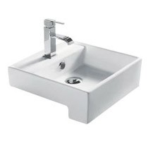 Dove Semi Recessed Basin