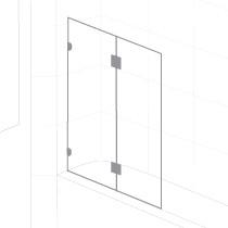 Rio Fix&Fold BathScreen RND BK