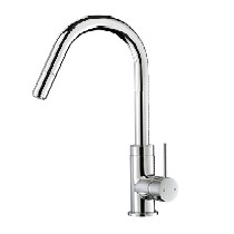 Gooseneck Pull Out Sink Mixer