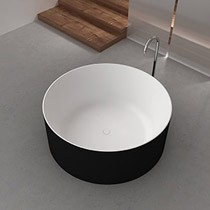 Drum Freestanding Bath BLACK