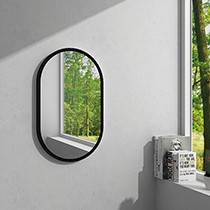 Hios Oval Mirror BLACK