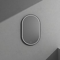 Hios Oval LED Mirror BLACK